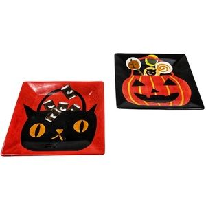 Halloween Earthenware Square dinner serve plates